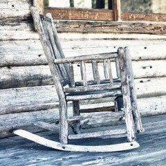 Rocking Chair on Cabin Porch